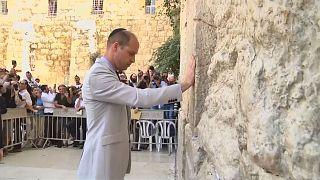 Britain's Prince William visits Jerusalem's Western Wall