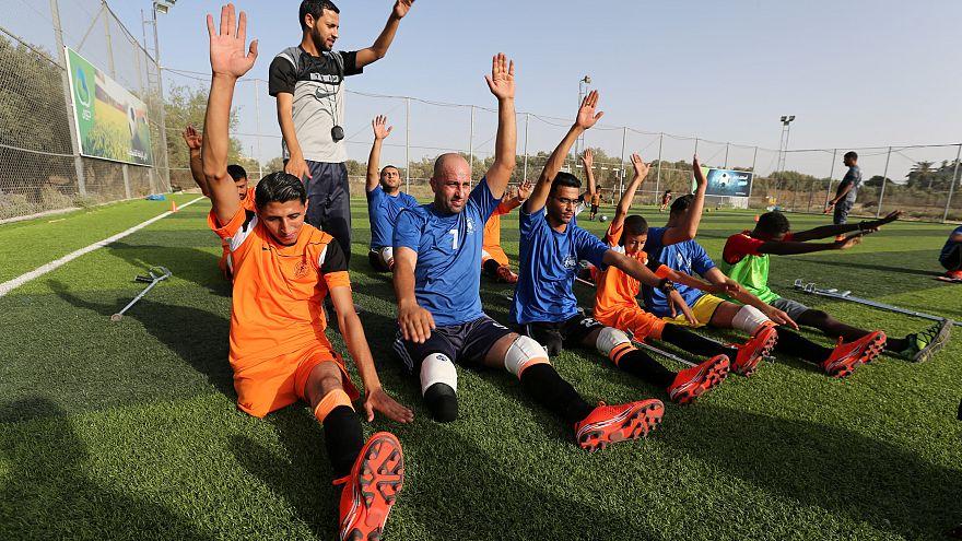 فريق كرة قدم فلسطيني من مبتوري الأطراف - رويترز