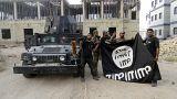 Photo prétexte prisonniers Etat islamique pendus en Irak.