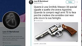 Sicurezza percepita e armi, il figlio di Di Bartolomei posta una foto della pistola con cui si uccise il padre