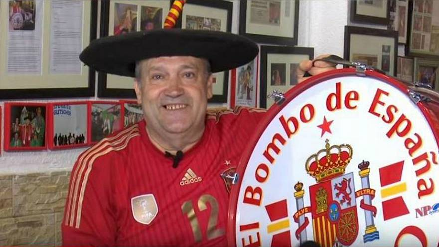 Spanish fan in tears after FIFA bans his famous drum from World Cup