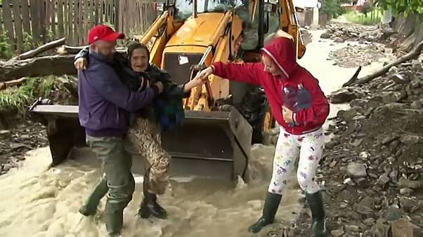Floods hit Romania, homes severely damaged