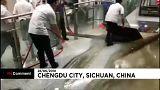 Hatalmas esőzés Kínában