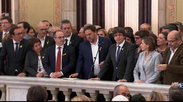 Dos millones de euros de fianza para 14 exmiembros del govern catalán