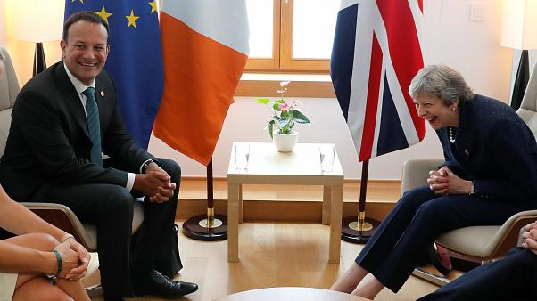 Theresa May with Irish Prime Minister Leo Varadkar