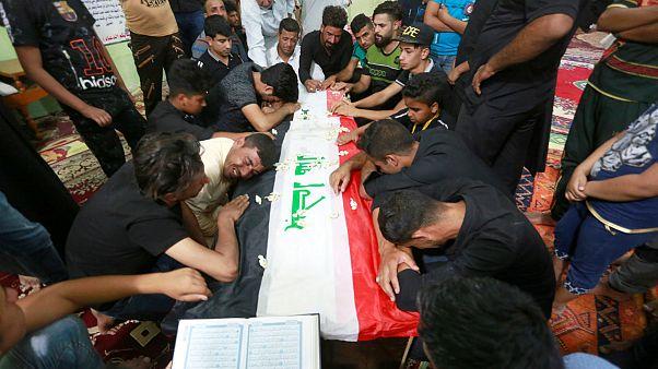 مراسم تشییع قربانیان کشتار داعش در عراق