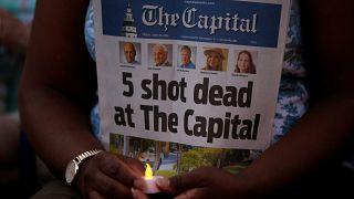 """Αγρυπνία στη μνήμη των πέντε θυμάτων της """"Capital Gazette"""""""