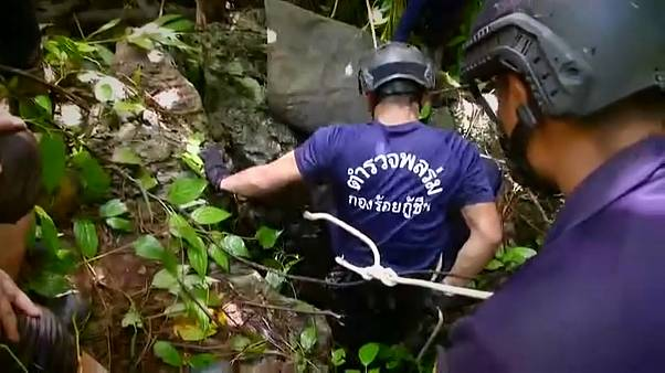 Rescuers trying to reach the boys