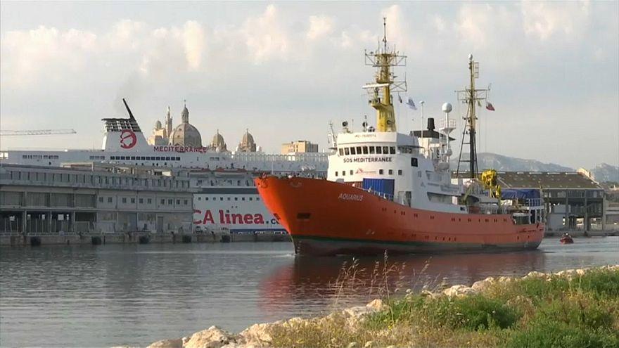 The charity migrant rescue vessel Aquarius