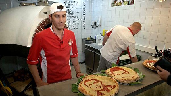 Russische Pizzakunst