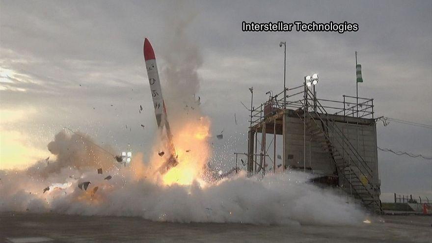 Неудачный старт космической ракеты