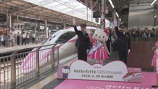 По железной дороге с Hello Kitty