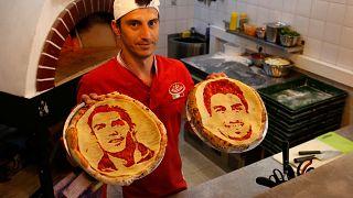 Pizzaművészet a focivébén