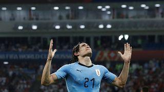 Portekiz'i 2-1 yenen Uruguay çeyrek finalde