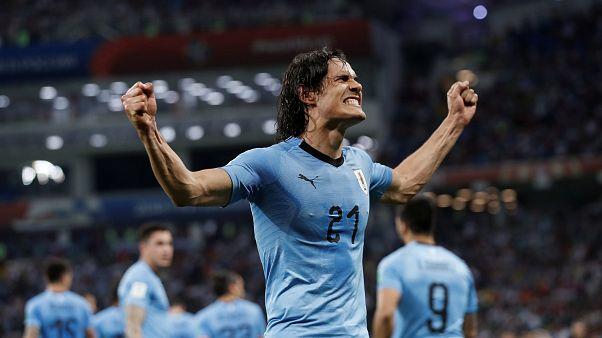 Uruguay bezwingt Portugal 2:1 und steht im WM-Viertelfinale