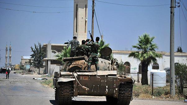 A regime tank in Deraa province