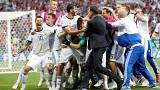Russia knocks out Spain in penalty shoot-out