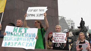 Zu kurze Lebenserwartung: Russen demonstrieren gegen Rentenreform