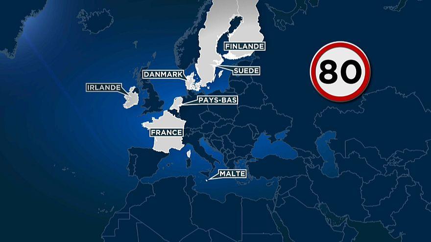 França reduz velocidade nas estradas