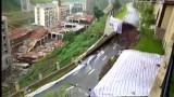 China: Straße abgesackt