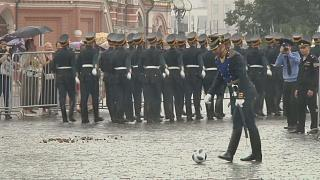 World Cup soccer fever interrupts military parade in Red Square