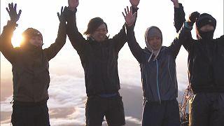 Climbing season at Mount Fuji started
