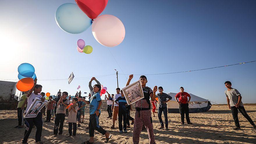 İsrail'den balonlu protestoya hava saldırısıyla müdahale