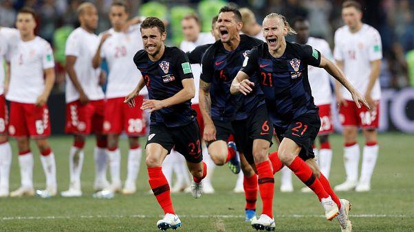 كأس العالم 2018: كرواتيا تتأهل للدور ربع النهائي على حساب الدنمارك بفضل الضربات الترجيحية