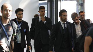 Receção calorosa à seleção portuguesa