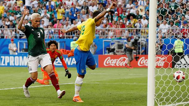 Brasil elimina a México del Mundial de Rusia