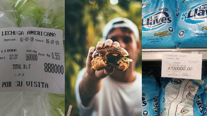 Half a burger? Here's what one month's pay will get you in Venezuela