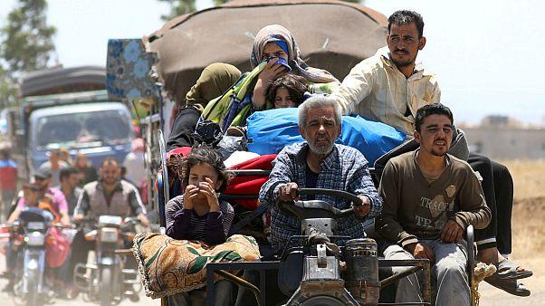 آوارگان سوری در جنوب سوریه و مرز اردن