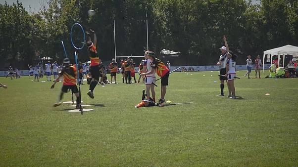 The USA win the Quidditch World Cup in Florence, Italy,