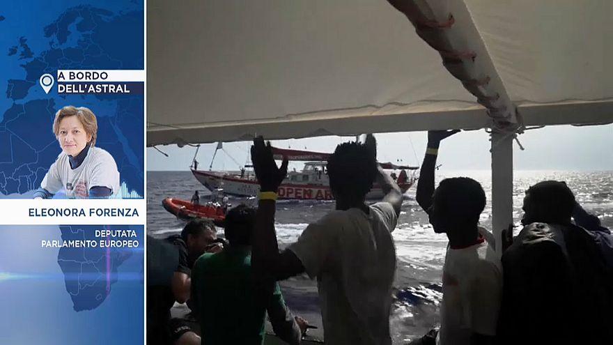 """Eurodeputata Forenza a bordo dell'Astral:""""sui migranti segni di torture"""""""