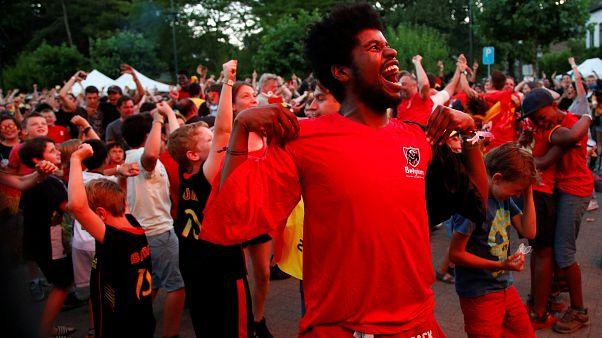 Brazil és belga örömünnep a továbbjutás után