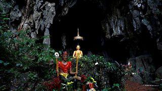 Thaïlande : grotte de Tham Luang, où les enfants ont été retrouvés en vie.