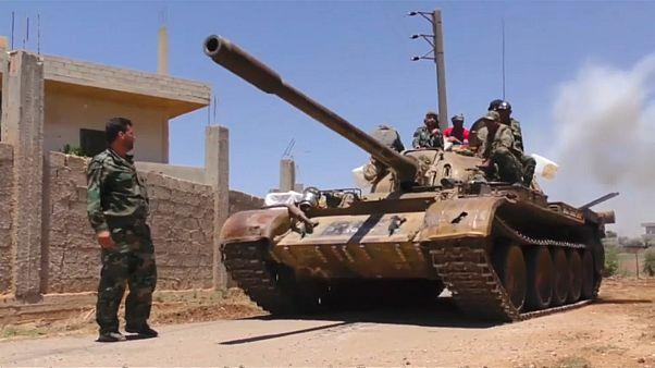 الجيش السوري يتقدم في مدينة درعا