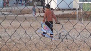 من أحد مخيمات اللجوء في أوربا