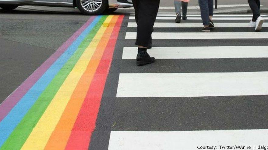 Paris mayor makes 'rainbow crossings' permanent in response to homophobic vandalism