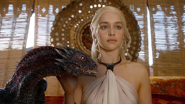 Emilia Clarke as Daenerys Targaryen in the series 'Game of Thrones'