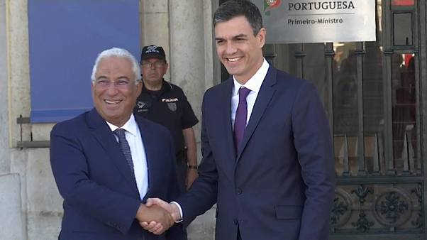 António Costa e Pedro Sánchez mostram coesão em Lisboa