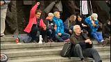 Az igazságügyi reform ellen tüntettek Varsóban