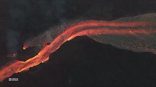 Vulcão Kilauea em erupção