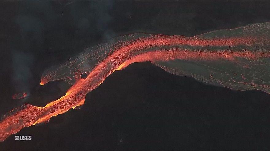 Látványos a lávaömlés Hawaii-on
