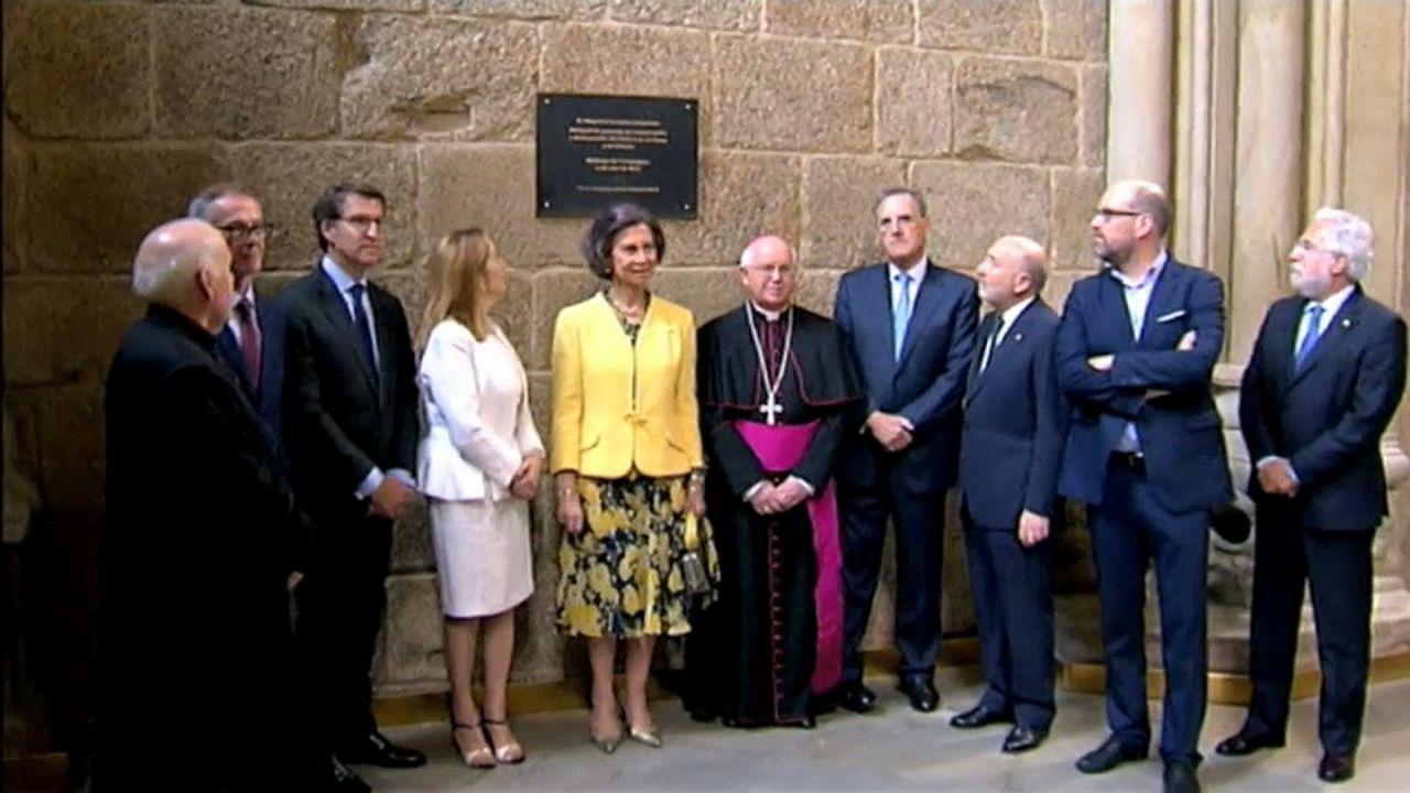 الملكة صوفيا تفتتح رسمياً مشروع ترميم كومبوستيلا