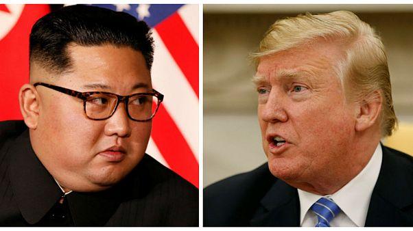 ترامپ رئیسجمهور آمریکا و کیم جونگ اون رهبر کره شمالی
