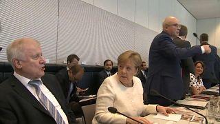 Horst Seehofer con Angela Merkel