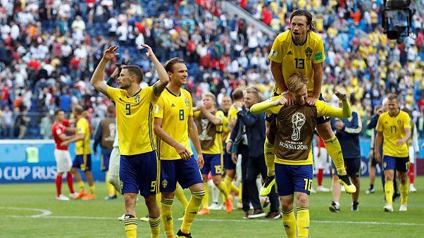 سوئد با حذف سوئیس به یک چهارم نهایی راه یافت