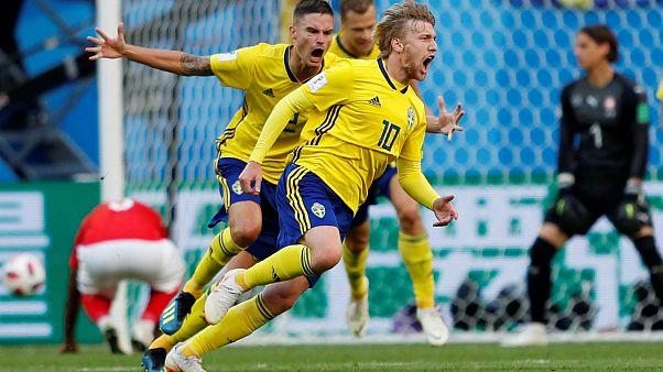 كأس العالم 2018: المنتخب السويدي يوقع الهدف الأول أمام سويسرا