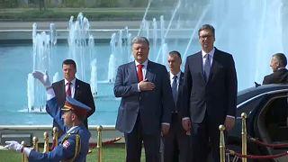 Szerbiában tárgyalt az ukrán elnök